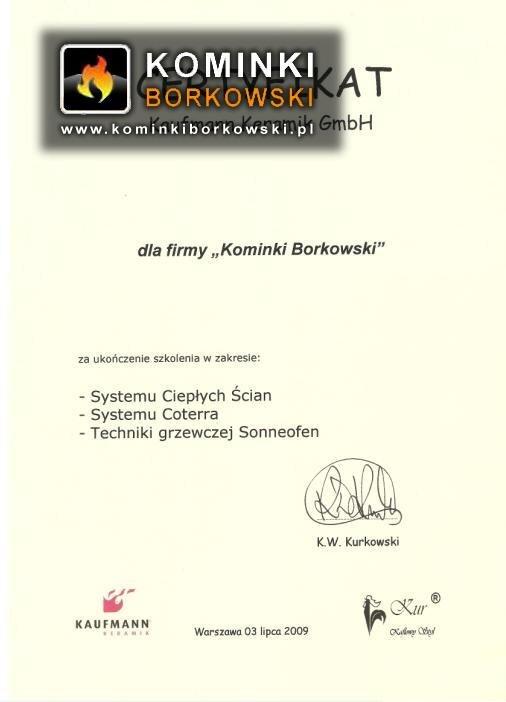 kominki certyfikat